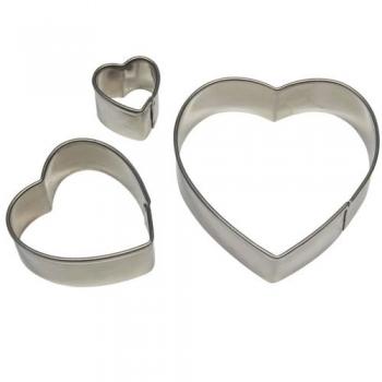 Metalllõikurite komplekt südamed 3tk