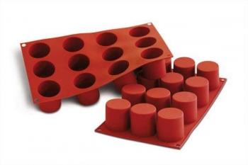 Silikoonvorm Silinder 12tk